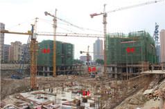 华林·时代广场2月工程进度 4#6#修至6层