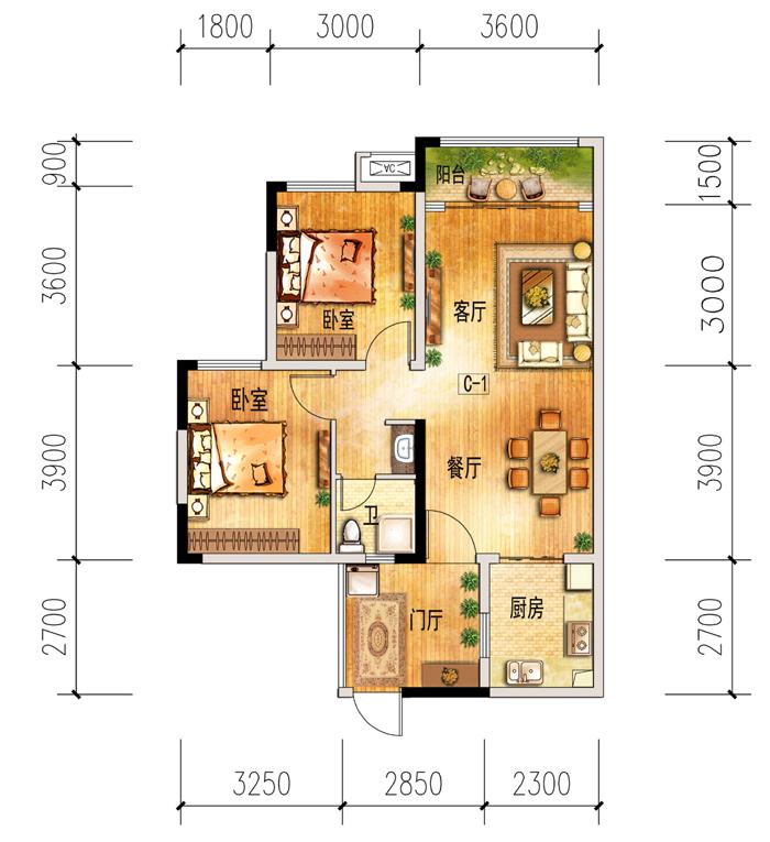 二室两厅一卫_户型列表_南充房产信息网